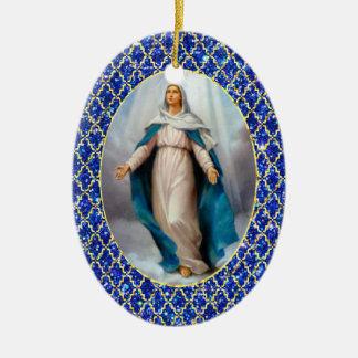 賛美された聖母マリア セラミックオーナメント