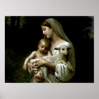 賛美された聖母マリア-神の母 ポスター