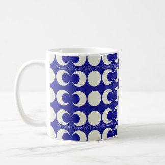 賛美される三重の月の異教徒は異教のな恵みです コーヒーマグカップ
