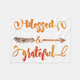 賛美され、感謝した感謝祭 フリースブランケット