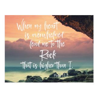 賛美歌の聖書の詩を慰めること ポストカード