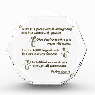 賛美歌の100:4 - 5 表彰盾