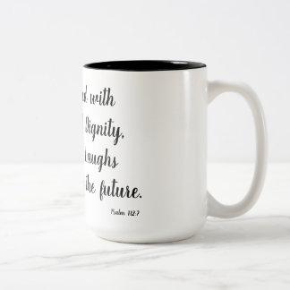 賛美歌の112:7 ツートーンマグカップ