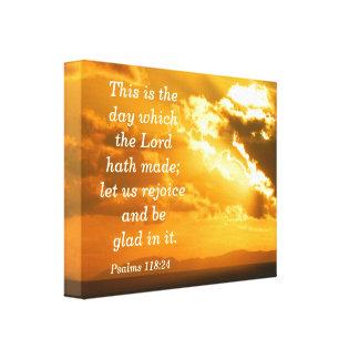 賛美歌の118:24のキャンバスのプリント キャンバスプリント