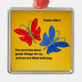 賛美歌の126:3主は私達のための素晴らしい事をしました メタルオーナメント