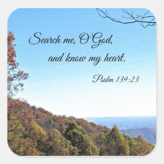賛美歌の139:23は私をのOの神…捜します スクエアシール