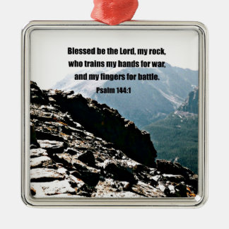 賛美歌の144:1 Blessed主…です メタルオーナメント