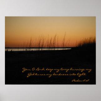 賛美歌の18:28私の神はライトに私の暗闇を回します ポスター