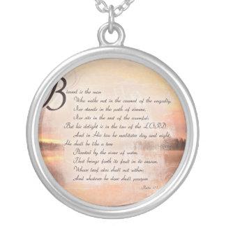 賛美歌の1:1 - 3人のクリスチャンの聖なる書物、経典のネックレスのジュエリー シルバープレートネックレス