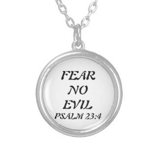 賛美歌の23:4の聖書の詩のネックレス シルバープレートネックレス