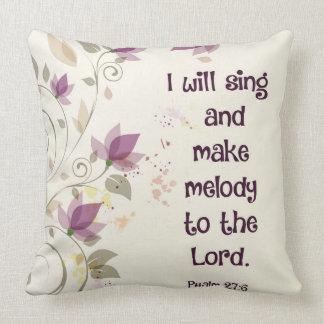 賛美歌の27:6私は主にメロディーを歌い、作ります クッション