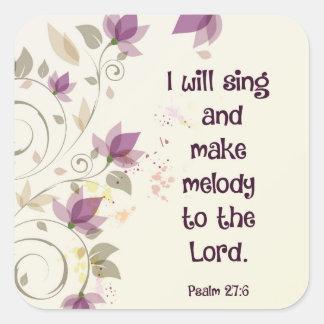 賛美歌の27:6私は主にメロディーを歌い、作ります スクエアシール