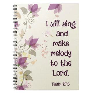 賛美歌の27:6私は主にメロディーを歌い、作ります ノートブック