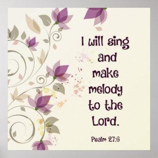 賛美歌の27:6私は主にメロディーを歌い、作ります ポスター