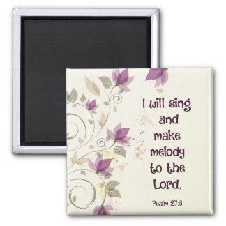 賛美歌の27:6私は主にメロディーを歌い、作ります マグネット