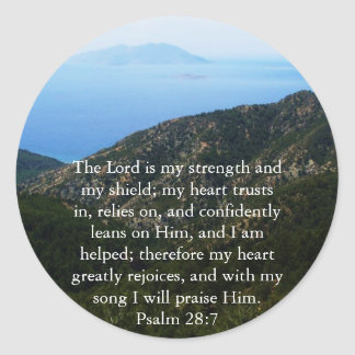 賛美歌の28:7の美しい聖書の道 ラウンドシール