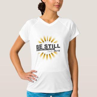 賛美歌の46:10の女性の訓練のV首のTシャツ Tシャツ
