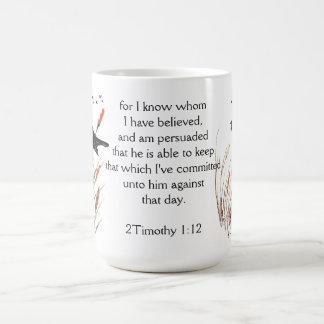 賛美歌の65:5の聖書の聖なる書物、経典の神私はクロドリを知っています コーヒーマグカップ
