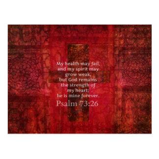 賛美歌の73:26の感動的な聖書の詩 ポストカード