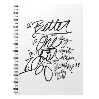 賛美歌の84:10のノート ノートブック