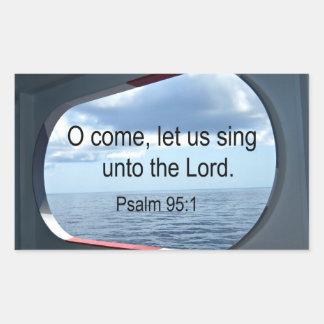 賛美歌の95:1 長方形シール