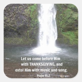 賛美歌の95:2は私達が…彼の前に来ることを可能にしました スクエアシール