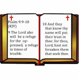 賛美歌の9:9 - 10 写真彫刻(台付き)