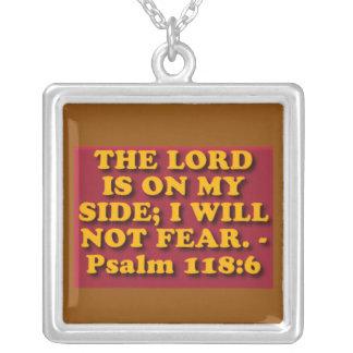 賛美歌118からの聖書の詩: 6. シルバープレートネックレス
