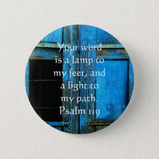 賛美歌119は私の足へあなたの単語ランプです 5.7CM 丸型バッジ