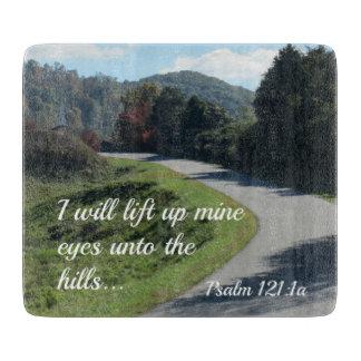 賛美歌121私は丘に鉱山目を持ち上げます カッティングボード
