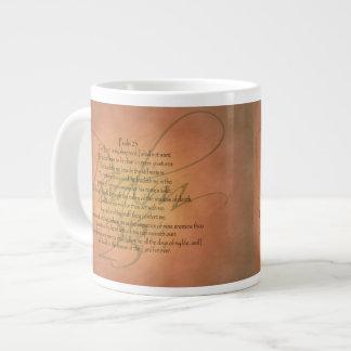 賛美歌23 KJVのキリスト教の聖書の詩 ジャンボコーヒーマグカップ