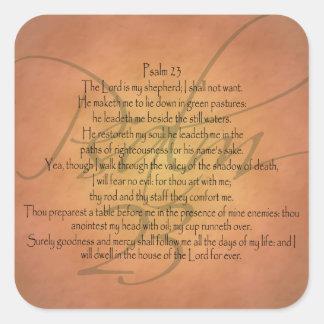賛美歌23 KJVのキリスト教の聖書の詩 スクエアシール