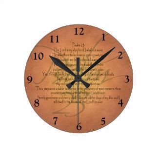 賛美歌23 KJVのキリスト教の聖書の詩 ラウンド壁時計
