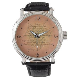 賛美歌23 KJVのキリスト教の聖書の詩 腕時計