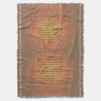 賛美歌23 KJVの宗教キリスト教の聖書の詩 スローブランケット