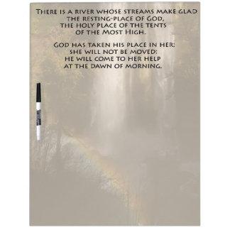 賛美歌46の聖書の詩の聖なる書物、経典のホワイトボード ホワイトボード