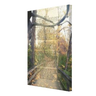 賛美歌91の森林写真のキリスト教の聖書の詩の壁 キャンバスプリント