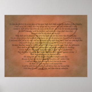 賛美歌91の聖書の詩 ポスター