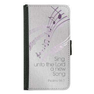 賛美歌: 主に新しい歌を歌って下さい GALAXY S5 ウォレットケース