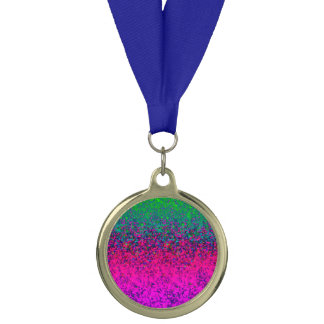 賞のグリッターの塵の背景 メダル