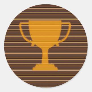 賞のトロフィのコップの勝者のおもしろいDECOの刺激 ラウンドシール