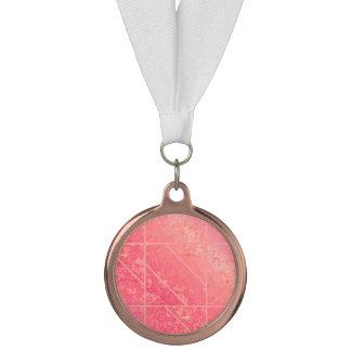 賞のピンクの大理石の質 メダル