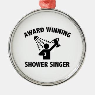 賞獲得のシャワーの歌手 メタルオーナメント