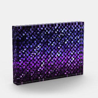賞紫色の水晶きらきら光るなStrass 表彰盾