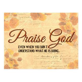 賞賛の神 ポストカード