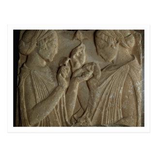 賞賛をの描写するPharsalosの石碑 ポストカード