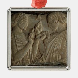 賞賛をの描写するPharsalosの石碑 メタルオーナメント