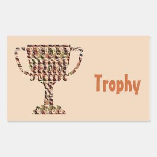 賞: ヴィンテージは金ゴールドを刻みました 長方形シール