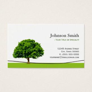 賢いオークの木の記号-専門の木サービス 名刺