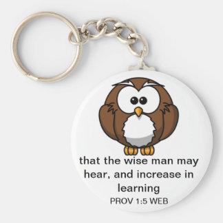 賢いフクロウ-諺1: キーホルダー